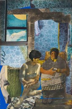 Romare Bearden, 'Mecklenburg county, morning (profile/part I, the twenties), 1978. Collage / arte, negritud