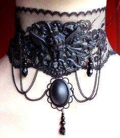 Cherub Neck corset by ~Pinkabsinthe  Artisan Crafts / Jewelry / Necklaces & Pendants