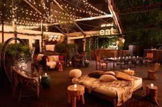 Hudson Lodge Bar, winter home decor in NYC