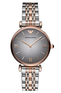 Emporio Armani Small Round Bracelet Watch, 32mm available at #Nordstrom
