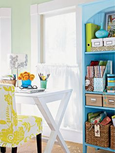 Bright and cheery work space.
