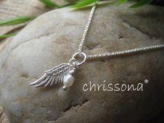 Schutzengel Kette Sterling Silber von chrissona auf DaWanda.com