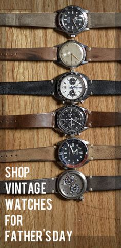 Need the perfect gift for dad? Shop our new collection vintage watches for Father's Day!