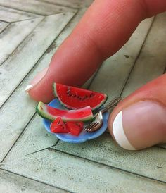 1:12 scale watermelon by Shay Aaron, via Flickr