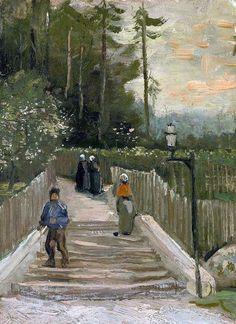 Vincent van Gogh, Path in Montmartre, 1886.