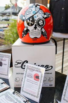 Sick hand painted Biltwell helm. Personalization, creating and exhibiting an individual image is important in culture.