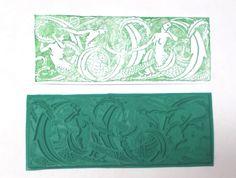Nudes Fantasy Mermaid ladies border rubber stamp Appaloosa art stamps unmounted