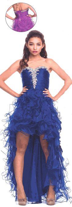 Evening Dress<BR>Prom Dress under $200<BR>526<BR>Ruffle Mania!
