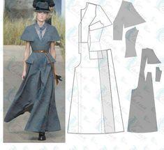 Fashion Patterns, Clothing Patterns, Pattern Draping, Tech Pack, Pattern Design, Oriental, Zero, Clothes, Dresses