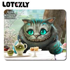 Fashion Slae Alice in wonderland Cat Anime Mouse Pad High Quality Durable Large Game Anti-slip Mouse Pad Anime Rubber Mouse Mats