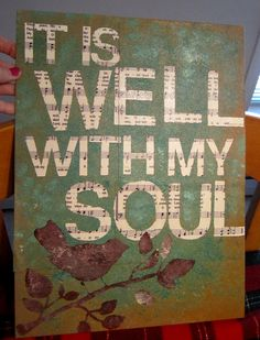 Love this Hymn & I love the idea of using an old hymnal for the lettering! Future project! :)