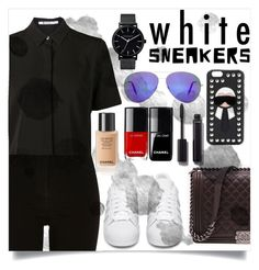 """IN MY WHITES SNEAKERS....PART 2"" by creating-outfits ❤ liked on Polyvore featuring River Island, Alexander Wang, adidas Originals, Chanel, The Horse, Fendi and Victoria Beckham"