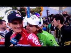 Peter Sagan photobombs Andre Greipel Tour de France 2015 - YouTube