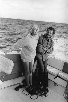 Catherine Deneuve with Marcello Mastroianni by Jean-Claude Deutsch, 1971