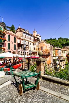 Nemi, a town about 30 kilometers to the southeast of Rome.It is set on the Alban Hills, overlooking a volcanic crater lake called Lake Nemi