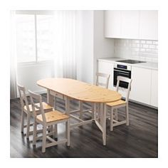 It's quick and easy to change the size of the table to suit your different needs. It extends to seat from 2 to 6 people. Solid pine is a natural material that ages beautifully and acquires its own unique character over time. Convenient drawer under the table top for storing cutlery, napkins or place mats near the table.
