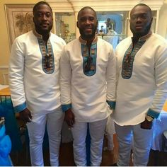 Top Trendy Aso Ebi Styles For Men in Most African men tend to choose calm and neutral colors t African Clothing For Men, African Shirts, African Print Dresses, African Print Fashion, Africa Fashion, African Dress, African Dashiki, African Clothes, African Attire