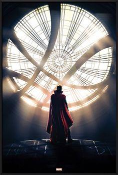 "Doctor Strange - Framed Marvel Movie Poster / Print (Teaser - Dr. Strange / Window) (Size: 24"" x 36"")"