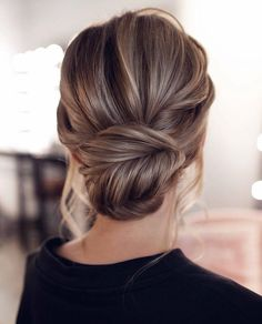 15 Stunning Low Bun Updo Wedding Hairstyles from Tonyastylist cla. - 15 Stunning Low Bun Updo Wedding Hairstyles from Tonyastylist classic updo wedding h - Wedding Hairstyles For Long Hair, Wedding Hair And Makeup, Up Hairstyles, Hairstyle Ideas, Style Hairstyle, Low Bun Wedding Hair, Chignon Updo Wedding, Simple Wedding Updo, Hair Updos For Medium Hair