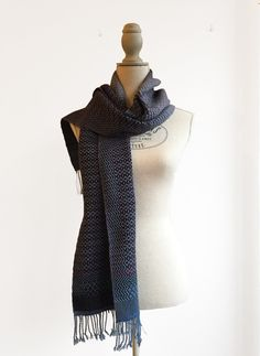 Women's scarf, Unique scarf, wool scarf, gift for her, handwoven scarf, unisex scarf, 100% wool, womens scarf, winter scarf, handwoven wrap by MariannaNelloTextile on Etsy       #textiles #textiledesign #handweaving #weaving #loom #handwoven #fashionaccessories