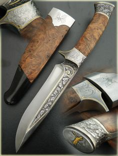 Cuchillos Artesanales Nunes Más Cool Knives, Knives And Swords, Damascus Blade, Knife Handles, Handmade Knives, Sticks And Stones, Cold Steel, Custom Knives, Lame