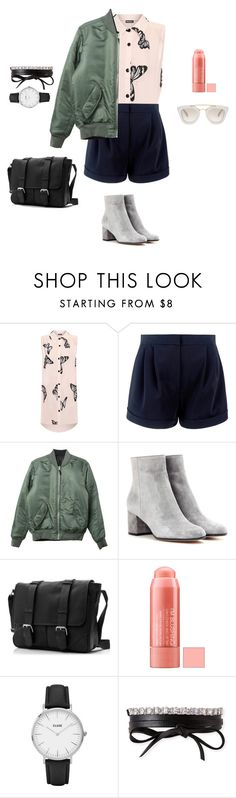 """bomber and shorts"" by yuri-writer on Polyvore featuring WearAll, HUF, Gianvito Rossi, CLUSE, Fallon and Prada"