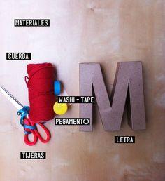 DIY forrar letras