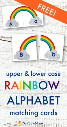 Rainbow alphabet free printable, printable upper and lower case matching game Letter Games, Letter Activities, Alphabet Activities, Literacy Activities, Nanny Activities, Emergent Literacy, Alphabet Writing, Preschool Education, Preschool Letters