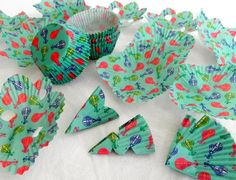 Garland made from cupcake liners.