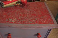 Emperor Silk with Old Violet Chalk Paint.  Clear wax. Nightstand.  $95 From Diane https://www.facebook.com/ThePaintFactory