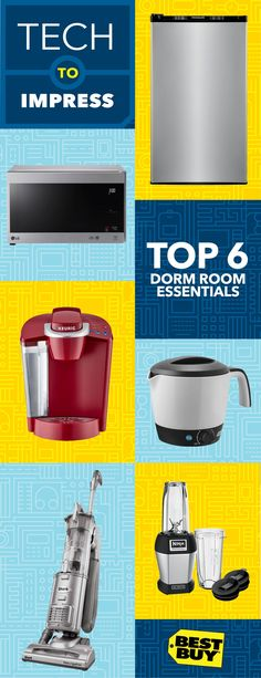 Think Big. Buy Small.   Turn your dorm room into a smart, efficiently outfitted living space with these back-to-school essentials. Like a space-saving LG compact microwave. Or a Keurig K50 coffee maker—brews coffee in less than a minute. Don't forget a Ninja Blender for perfect smoothies. Love ramen, soup and oatmeal? Try the Dash Pot Cooker. And there's still room for a Frigidaire Mini Fridge and Shark Vacuum to keep things chill and clean. Think big, buy small, and get great deals at Best…