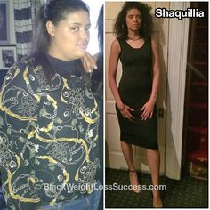 Transformation of the Day: Shaquillia lost 56 pounds. Our UK sista decided that it was time for a change after an embarrassing comment from a classmate and dressing room wake up call.
