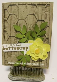 www.remarkablycreated.com Stampin' UP! Hexagon Hive Thinlit Video Tip and Samples
