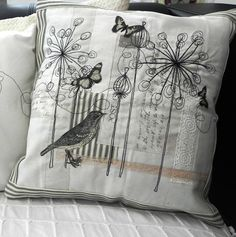 Embroidered and Appliqued Cushion   wowthankyou.co.uk £17