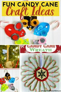"""Nothing says """"Christmas is here"""" as much as candy cane! If you're looking for fun candy craft ideas for kids, these easy yet adorable crafts will definitely inspire you."""