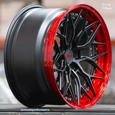 Stunning Vossen Forged wheels finished in Satin Black centers and Polished Vossen Red outers. Rims For Cars, Rims And Tires, Wheels And Tires, Jdm Wheels, Vossen Wheels, Truck Rims, Car Rims, Corvette Wheels, Car Shoe