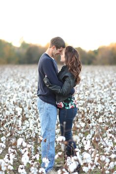 cotton field, engagement session, engagement poses, poses, cotton Ashley + Ryan | Windsor Castle Park, Smithfield Virginia Wedding Photographers - jen + ashley photography