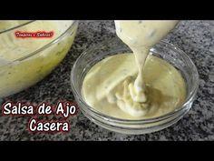 SALSA DE AJO Casera - receta rápida - Castellano - YouTube