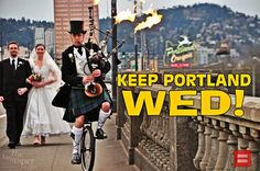 For the true Keep Portland Weird wedding experience, hire The Unipiper!