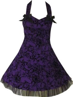 Shop Purple Tattoo Print Swallows Rock Swing Dress Free delivery and returns on eligible orders. Pin Up Outfits, Punk Outfits, Cute Dresses, Beautiful Dresses, Prom Dresses, Wedding Dresses, Purple Tattoos, 1950s Fashion Dresses, Violet