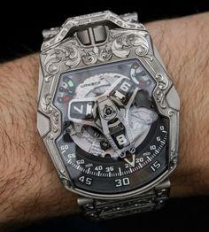 Urwerk Amadeus Uhr Hands-On - Watches Stylish Watches, Casual Watches, Luxury Watches For Men, Amazing Watches, Beautiful Watches, Cool Watches, Big Watches, Mens Designer Watches, Skeleton Watches
