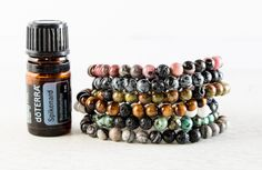 Diffuse your essential oils with simplicity and beauty while wearing our amazing Essential Oil Diffuser Bracelets! Each are made out of natural stones and lava beads. Simply rub a couple of drops of y