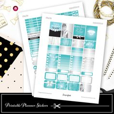Tiffany Bleu Printable Planner Stickers, $2.97