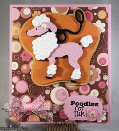 Poodles of fun card featuring K Andrew Designs All About Animals stamp set