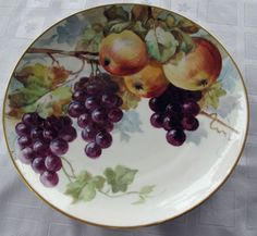 1890 LIMOGES FRUIT BOWL, CHARGER GILDED HAND PAINTED SUPERB