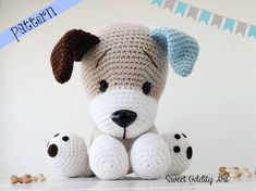 **PLEASE NOTE THIS LISTING IS FOR CROCHET PATTERN NOT ACTUAL TOY** this listing is for Charlie the Puppy doll crochet pattern They measure 15 long when using a D hook I recommend it as an intermediate pattern. The instructions are detailed and easy to follow if you know the basic stitches and