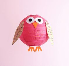 DIY Owl Lantern by Meet the Dubiens - could also appropriate for other animals