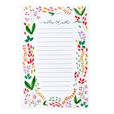 Botanical Notes Notepad - BOTANICAL NOTES
