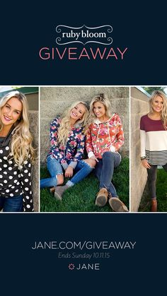 Free PayPal Cash that you can use on coveted clothing items? Yes, please! Ruby Bloom Boutique is making four lucky ladies' day with their Paypal Cash giveaway! Enter this week's giveaway for a chance at 4 awesome cash prizes!!