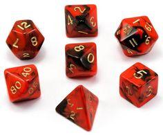 Dice 4 Friends RPG 7 Cube Set polyédriques DND jeu de rôle Confetti Gold Top